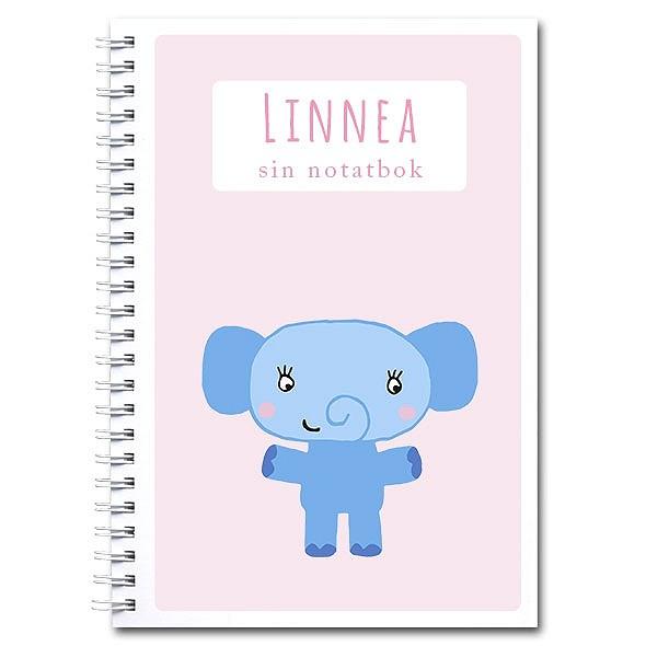 Personlig notatbok: elefant - jente