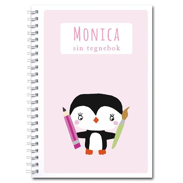 Personlig tegnebok: pingvin - jente
