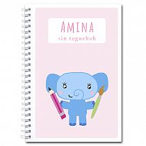 Personlig tegnebok: elefant - jente