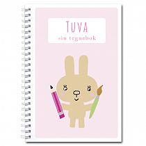 Personlig tegnebok: kanin - jente